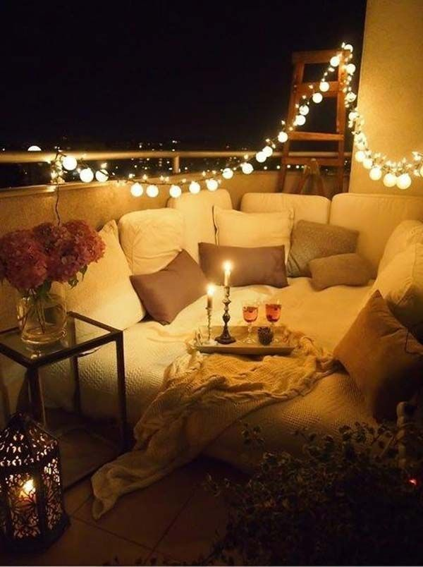 Pretty Ideas For A Romantic Night At Home. How about a romantic night on the roof of your house  Starry chilly winds and hot food Doesn t it sound like perfect set up for date 14th 5 Easy Elegant Decoration ideas Valentine s Day Online